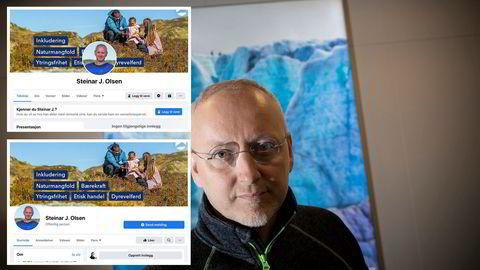 Den ene av disse Facebookprofilene til Stormberg-eiere Steinar J. Olsen er falsk og opprettet av ukjente identitetstyver. Facebook nektet å slette den helt til DN tok kontakt.