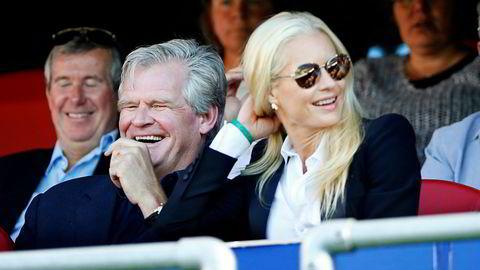 Tor Olav Trøim og Celina Midelfart under en eliteseriekamp mellom Vålerenga og Brann i fjor.