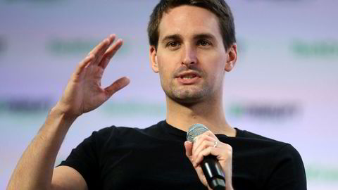 Medgründer og konsernsjef Evan Spiegel i teknologiselskapet Snap, som eier bilde- og videodelingstjeneten Snapchat.