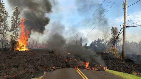 Store skader etter utbruddet fra Kilauea-vulkanen på Hawaii.
