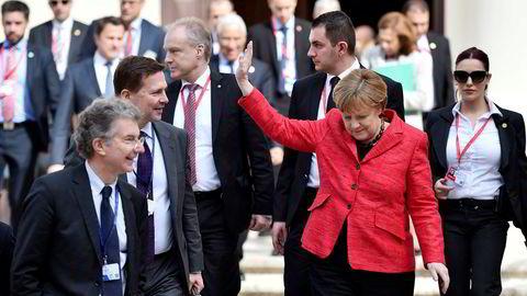 – Vi har skjebnen i våre egne hender, sa Tysklands forbundskansler Angela Merkel under EU-toppmøte på Malta, fredag. Foto: