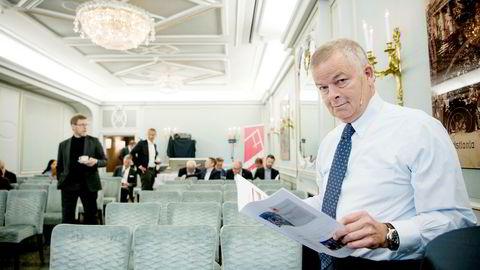 – Nå har vi en rekordhøy ordrereserve på 27,4 milliarder kroner, sier konsernsjef Arne Giske i Veidekke da han la frem tallene for første kvartal.