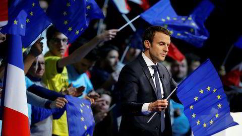 Det er gjennomført nær 50 nasjonale meningsmålinger i Frankrike i april. Nesten alle gir Emmanuel Macron mellom 22 og 25 prosent.