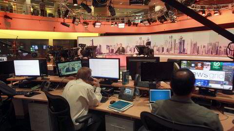 Naboland krever at Qatar stenger tv-stasjonen Al Jazeera. Bildet er fra kanalens hovedkontor i Doha.