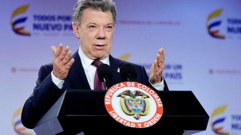 Colombias president, Juan Manuel Santos