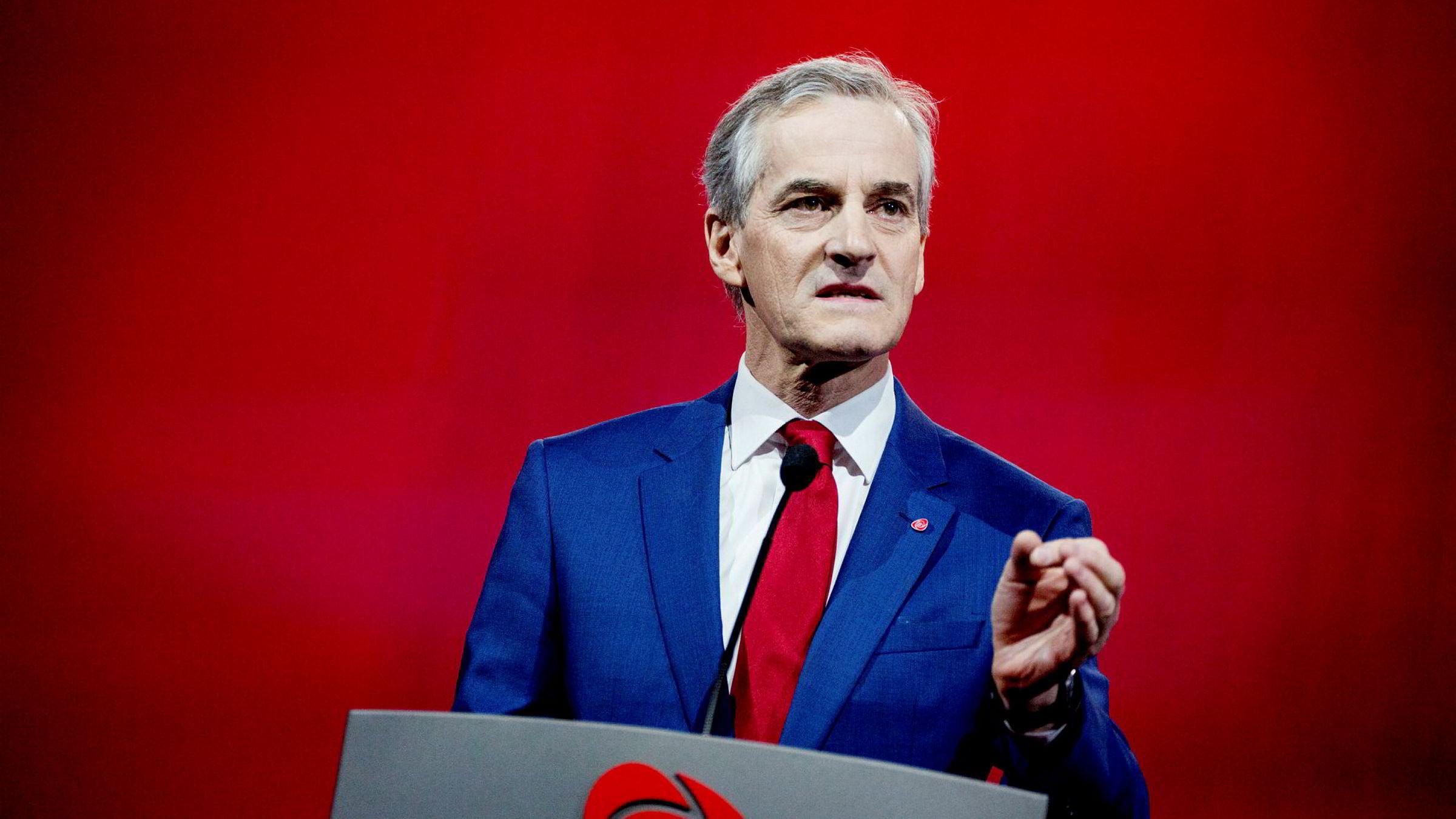 Partileder Jonas Gahr Støre kan glede seg over pen fremgang for Arbeiderpartiet på TV2s mai-måling.