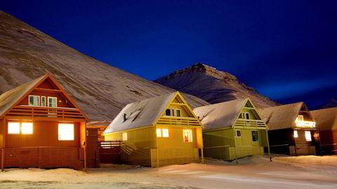 Boliger, Longyearbyen på Svalbard.