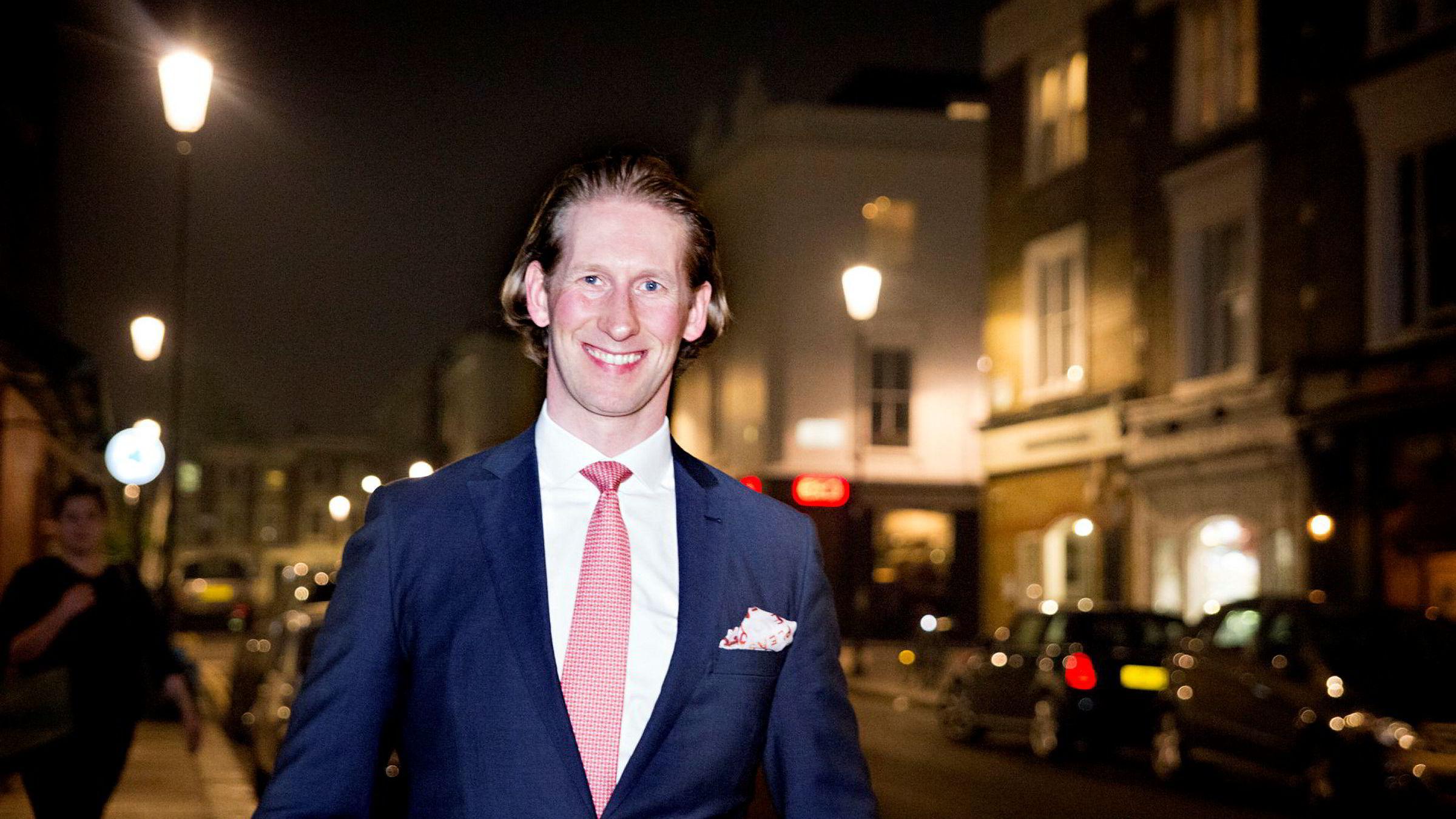 Nordmannen Rune Madsen gjør karriere i Londons finansverden med hedgefondet Runestone Capital.