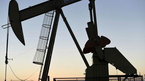Amerikansk oljepumpe i Oklahoma City, Oklahoma.