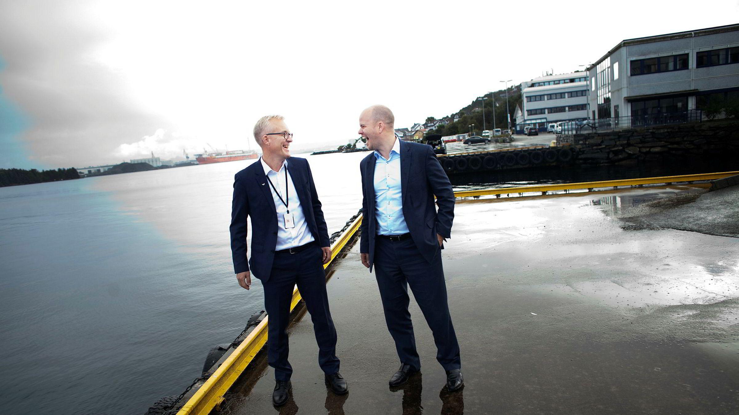 Egil Messmer (til venstre) har gjort det igjen. 1,5 år etter at han startet opp selskapet Wexus selges 60 prosent av aksjene til Norvestor og Tor Erling Gunnerød for rundt 150 millioner kroner.