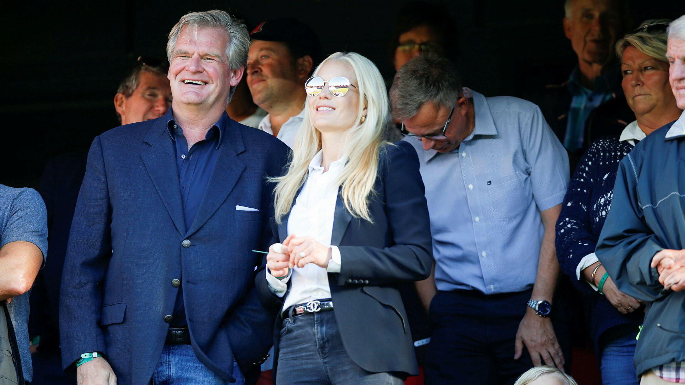 Tor Olav Trøim tror ikke John Fredriksen savner ham, men mener han gikk verdens beste skole hos sin tidligere sjef. Her på fotballkamp med Vålerenga og Celina Midelfart i fjor.