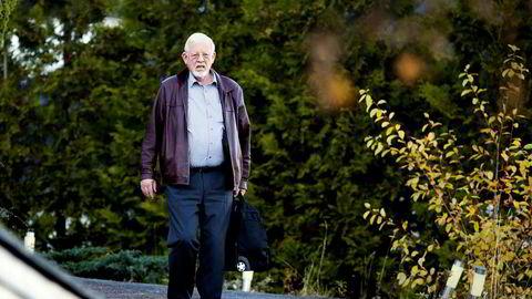 Ingolf Kristiansen møtte i Oslo tingrett i dag, men ville ikke kommentere straffesaken mot ham og sønnen Are Abrahamsen,