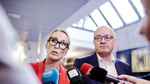 Siden Anita Krohn Traaseth tiltrådte som administrerende direktør i Innovasjon Norge i september 2014 er fem av 14 stillinger i lederteamet blitt lyst ut eksternt. Her med styreleder Gunnar Bovim.