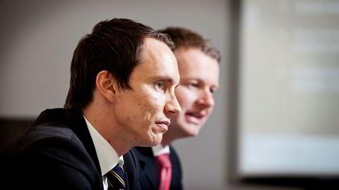 Gründerne Erik Egenæs (til venstre) og Endre Tangenes bak meglerhuset Nordic Securities og morselskapet The Nordic Group, hadde høy inntekt og tok ekstra utbytte i fjor. I år ryker konsesjonen.