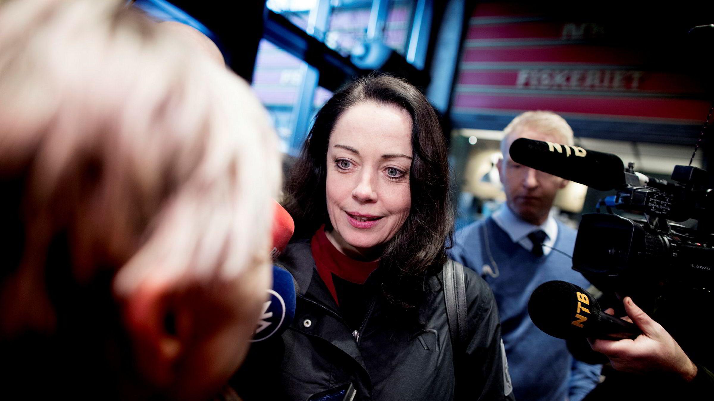 Sentralstyremedlem Else-May Botten møtte på sentralstyremøte i Arbeiderpartiet tirsdag etter varslene om nestleder Trond Giske.