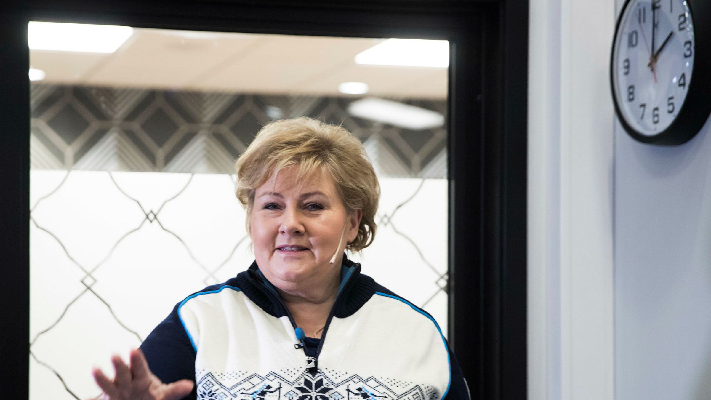 Statsminister Erna Solberg sa til Høyres sentralstyre søndag at hun mener den norske elbilsatsningen er eksempel på vellykket bruk av markedskrefter i det grønne skiftet.