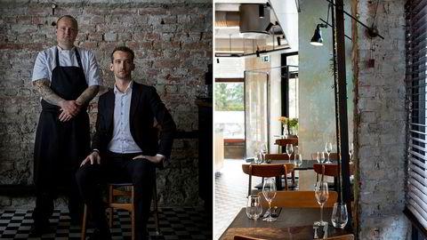 Sta som en geit. Etter to års oppussing har kjøkkensjef Axel Nordahl og daglig leder Joakim Thorstensen gjort en gammel dagligvarebutikk om til restauranten de selv vil drive.