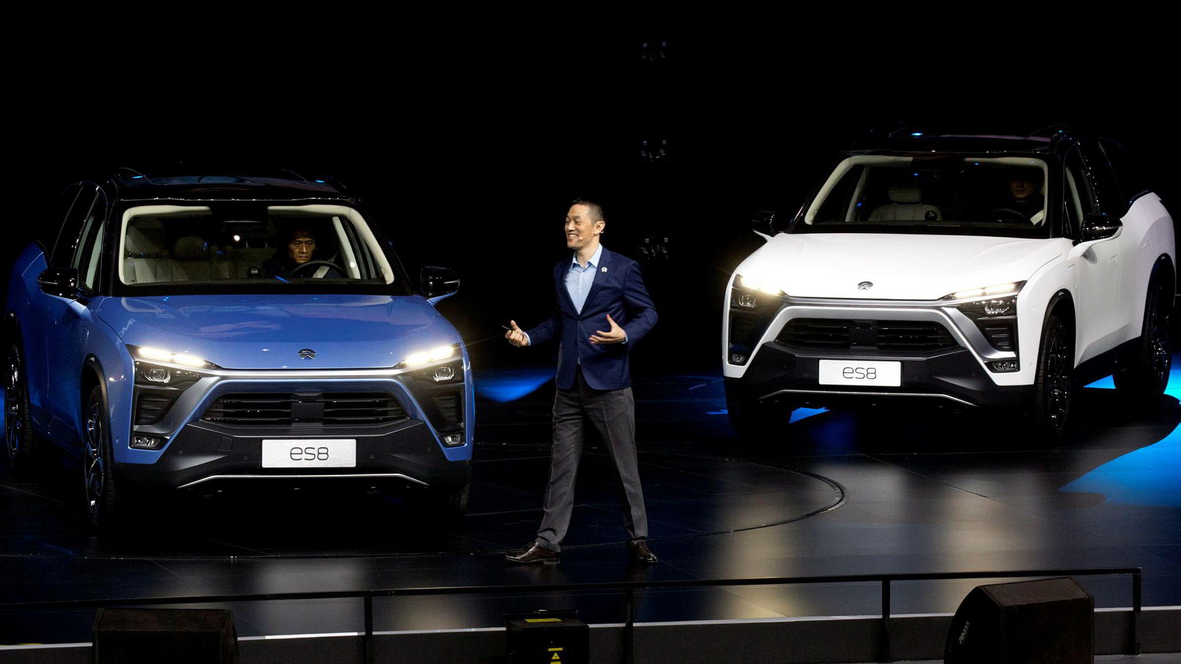 ES8-modellen til Shanghai-selskapet NIO skal konkurrere med Tesla Model X. Den produksjonsklare modellen akselererer fra null til hundre kilometer i timen på 4,4 sekunder.