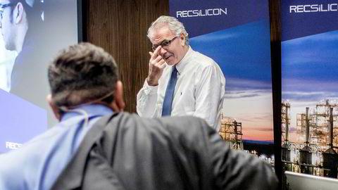 Rec Silicon presenterer torsdag sine resultater for tredje kvartal. På bildet: konsernsjef Tore Torvund. Bildet er tatt i 2014.