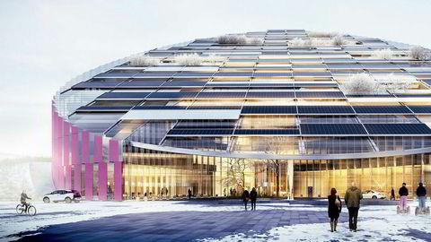 Arkitektkontoret Wingårdhs prosjektforslag «E = mc²» for Statoils nye kontorbygg på Forus.