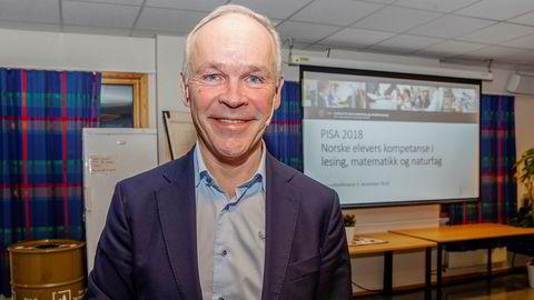 Kunnskapsminister Jan Tore Sanner la mandag frem Pisaresultater 2018.