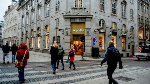 Det er tøff konkurranse i klesbransjen, men Kappahl er fremdeles god butikk. Her fra kjedens butikk på Karl Johan i Oslo.