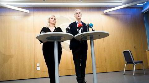 Tirsdag møtte Ap-leder Jonas Gahr Støre og partisekretær Kjersti Stenseng pressen etter partiets ekstraordinære sentralstyremøte om varslene mot nestleder Trond Giske. Der kom Støre med sitt budskap om hvem som er sjefen.