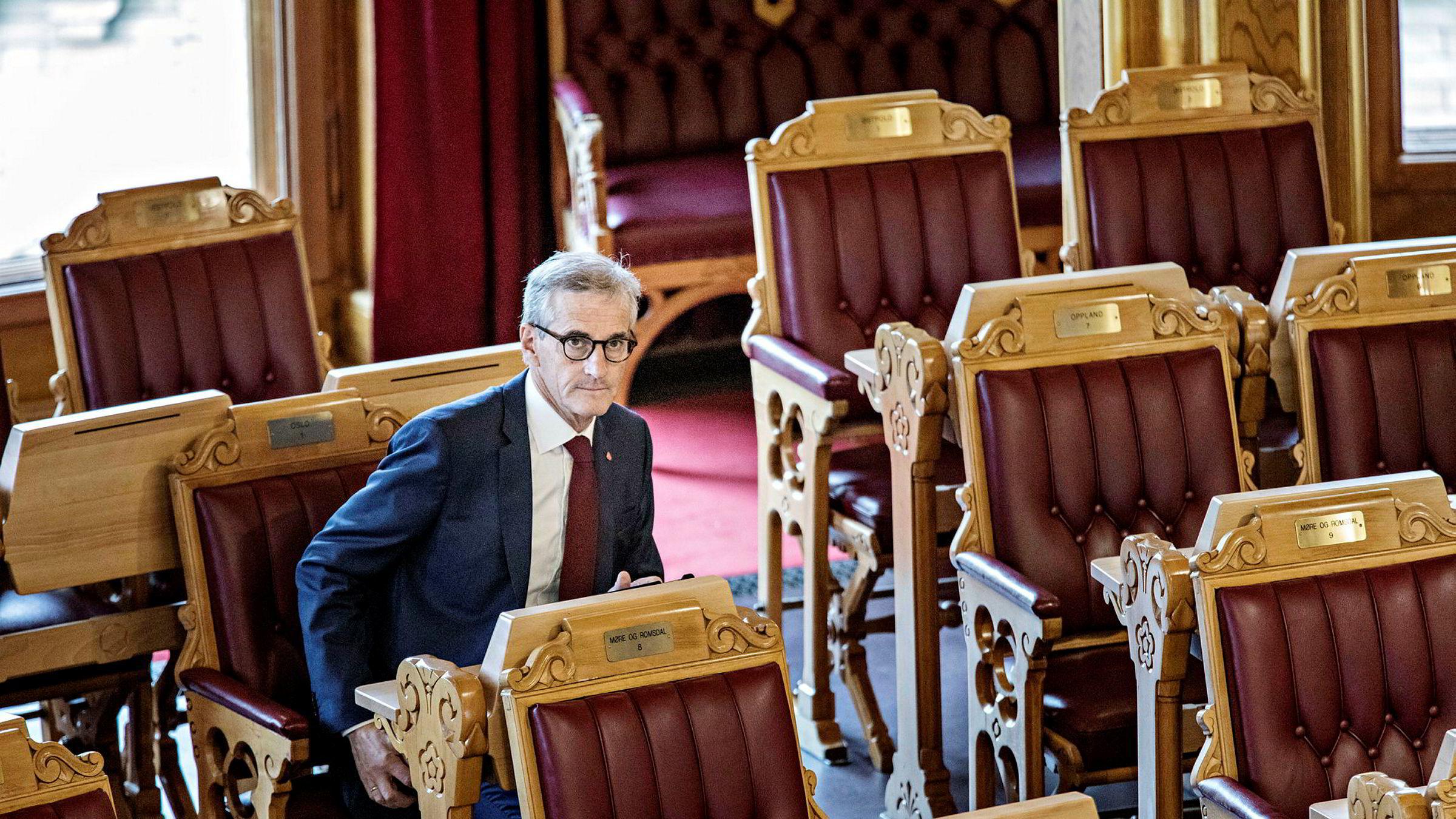 Ap-leder Jonas Gahr Støre kalte Ingunn Yssen inn på teppet.