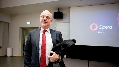Styrelder Sverre Munck i Opera Software tar ikke gjenvalg.