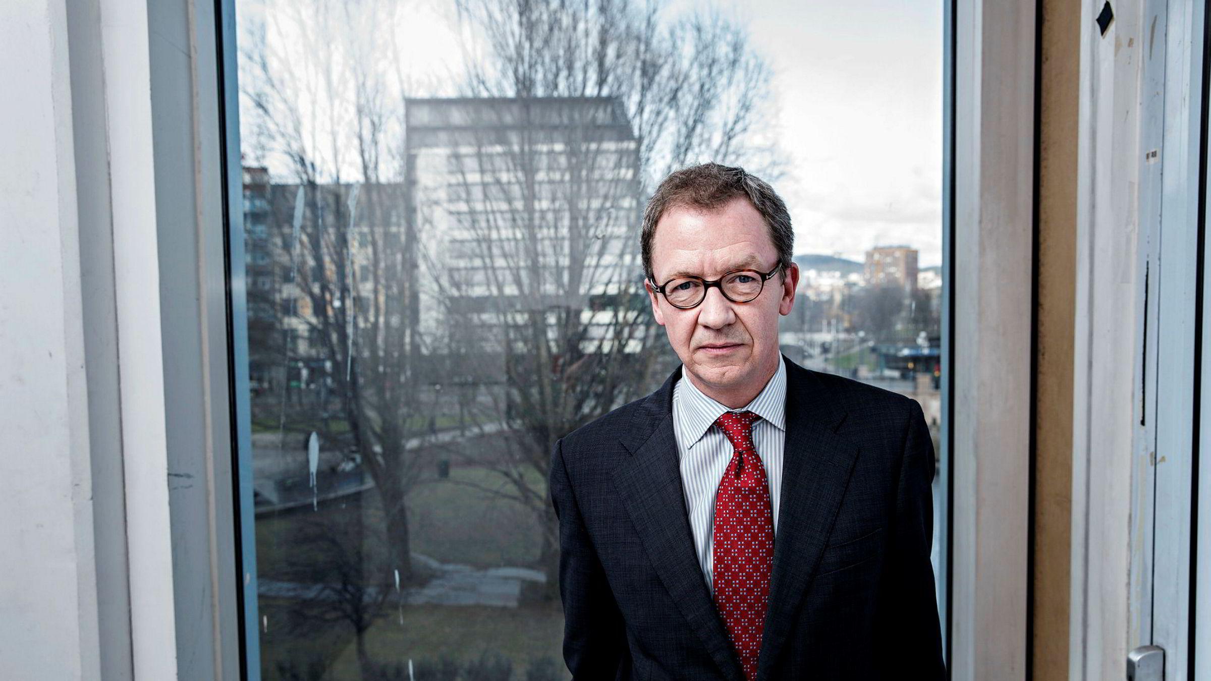 Administrerende direktør Idar Kreutzer i Finans Norge mener det er bra med en bedre vurdering av økonomisk klimarisiko.