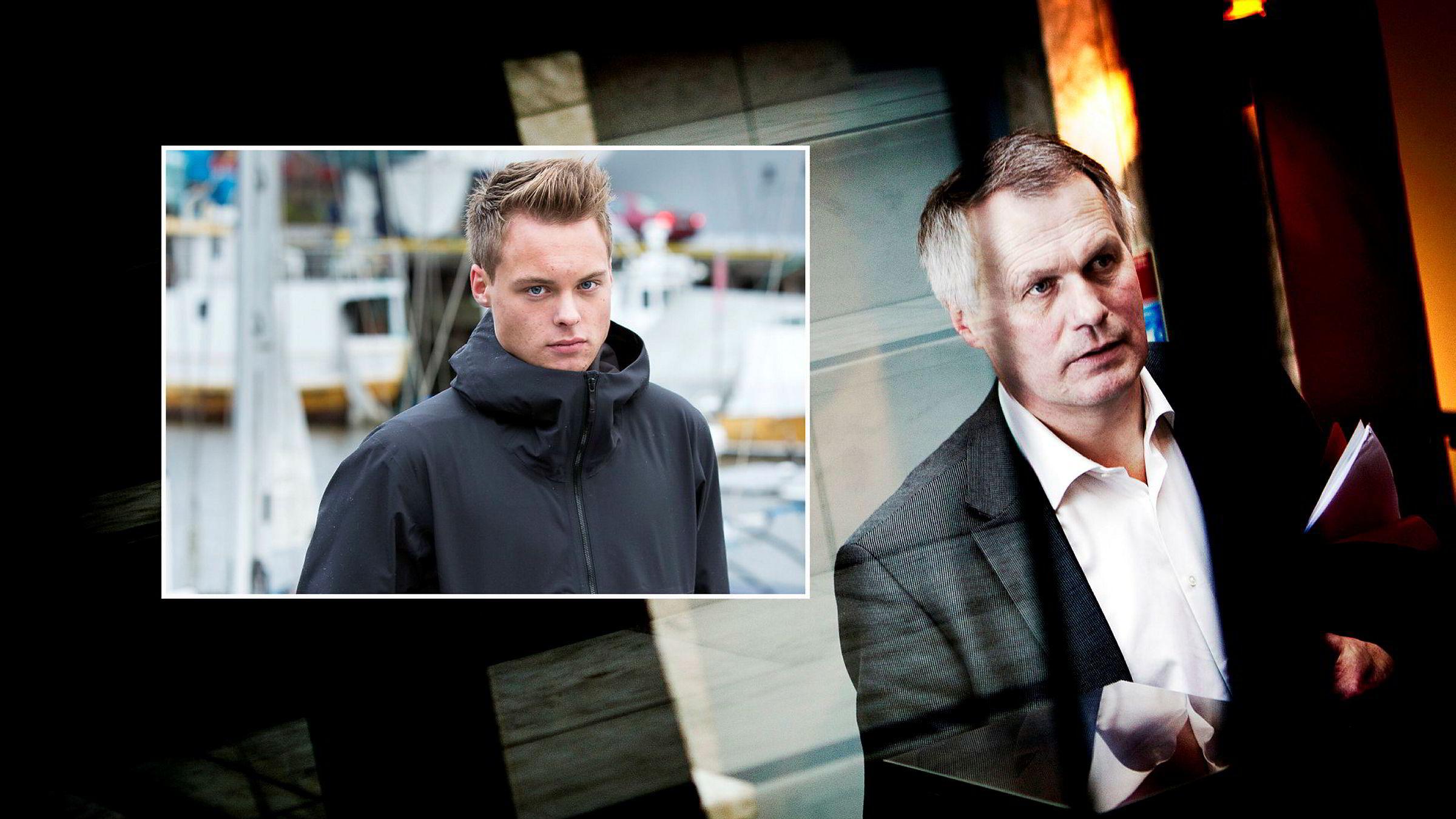 Far Gustav Witzøe og sønn Gustav Magnar Witzøe kontrollerer over halvparten av aksjene i Salmar.