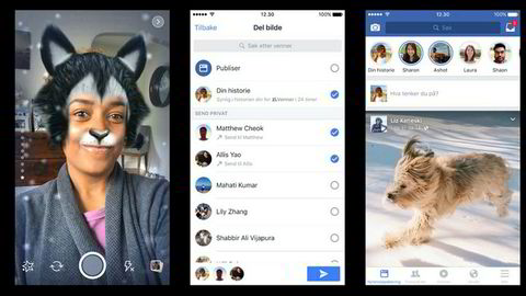 Facebook Stories ble lansert i Norge torsdag. Funksjonen lar brukerne sende bilder som forsvinner etter en viss tidsperiode.