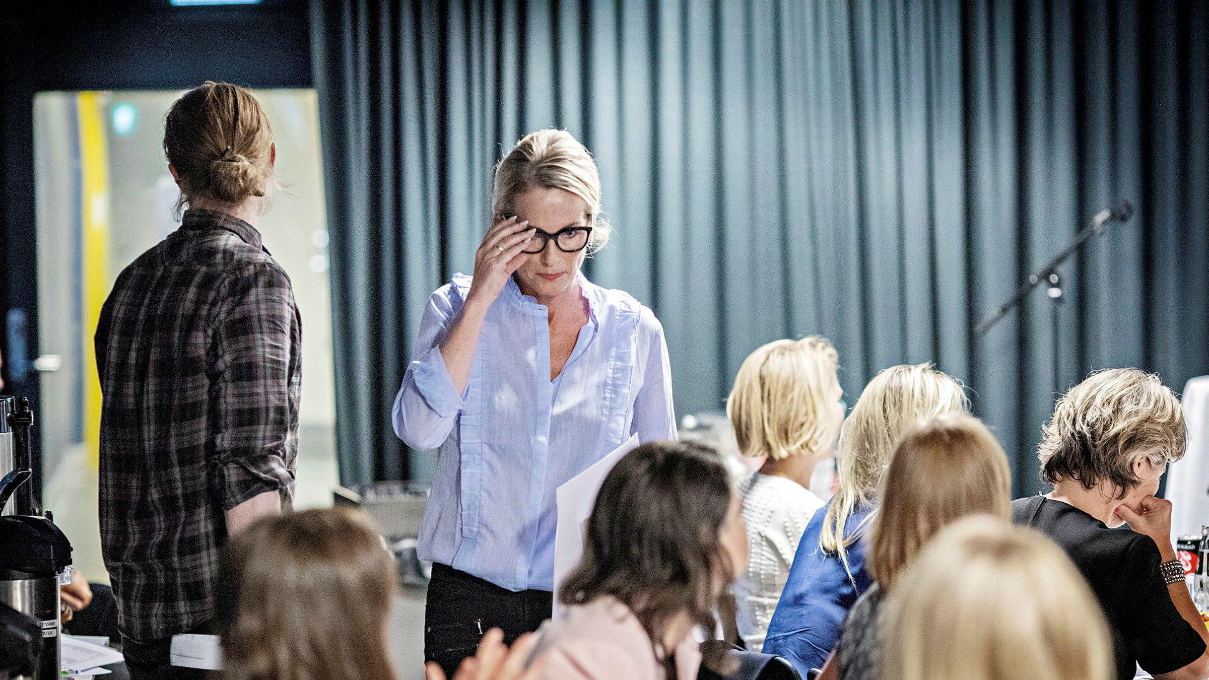Innovasjon Norge-sjef Anita Krohn Traaseth deltok onsdag på toppmøtet for kvinnelige gründere i Mathallen i Oslo.