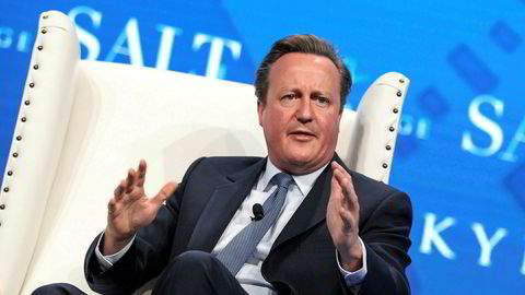 Tidligere statsminister David Cameron har kapret Kina-jobb. Bildet er tatt under en konferanse i Las Vegas i USA tidligere i år. Foto: REUTERS/Richard Brian