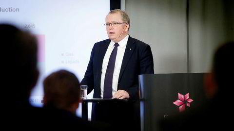 Statoil-sjef Eldar Sætre la torsdag morgen frem den ferske kvartalsrapporten.