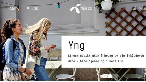 Nkom forventer at Telenor gjør endringer på tilbudet sitt. Her er en faksimile fra selskapets hjemmeside.