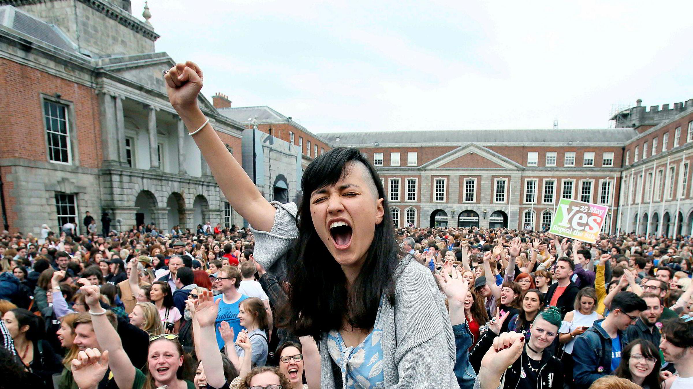 66 prosent stemte for å endre den irske Grunnloven. Irske kvinner får nå retten til selvbestemt abort.
