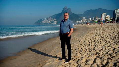 Equinor-sjef Eldar Sætre har spennende dager foran seg i Brasil. Her avbildet i 2018 på Ipanema i Rio de Janeiro.