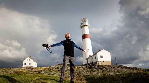 Nils Øveraas er generalsekretær i Den Norske Turistforening (DNT). Her er han fotografert på Torungen fyr.