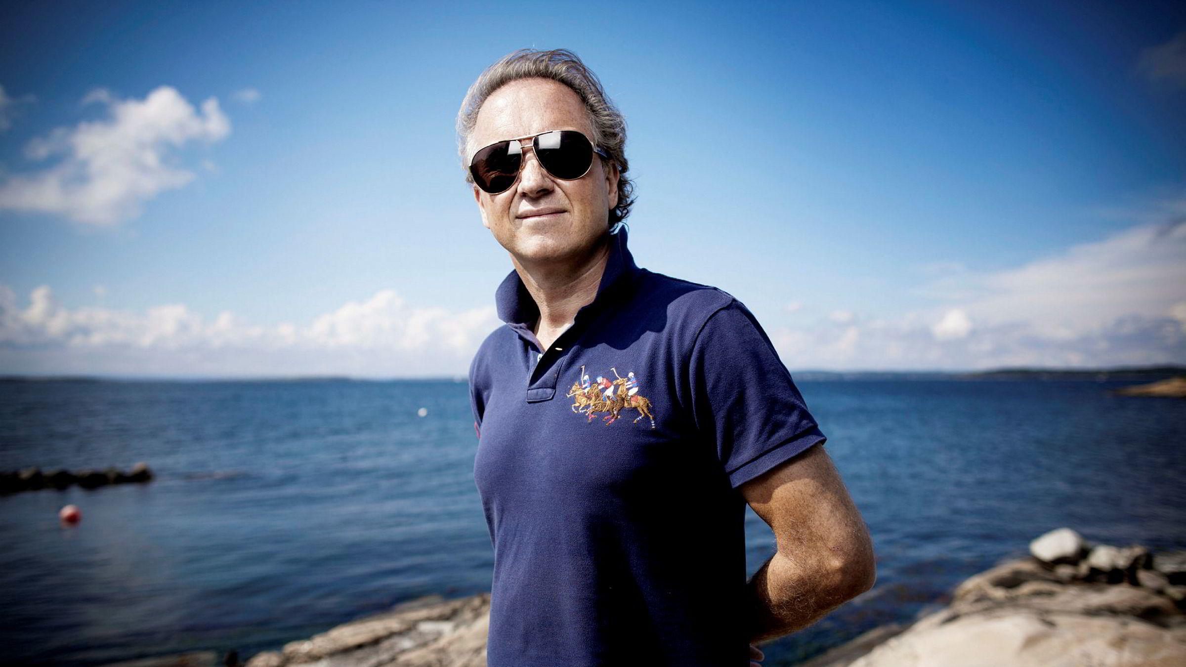 Investor Haakon Sæter troner etter forrige ukes aksjekjøp på toppen av aksjonærlisten i gruveselskapet Element. Bildet er fra 2011.