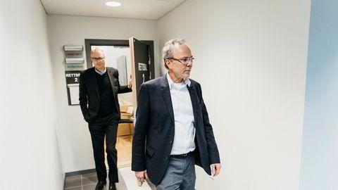 De tiltalte. Christian Selmer (til venstre), tidligere toppsjef i oljeselskapet EPH, er sammen med Arne Helland, tidligere finansdirektør i TGS-Nopec Geophysical, tiltalt for grovt skattesvik av Økokrim. Begge nekter strtaffskyld.