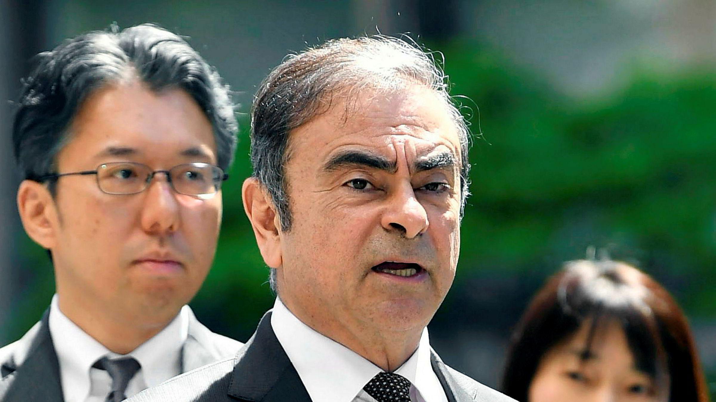 Carlos Ghosn ble pågrepet i Japan i november 2018 og siktet for blant annet skattesvindel.