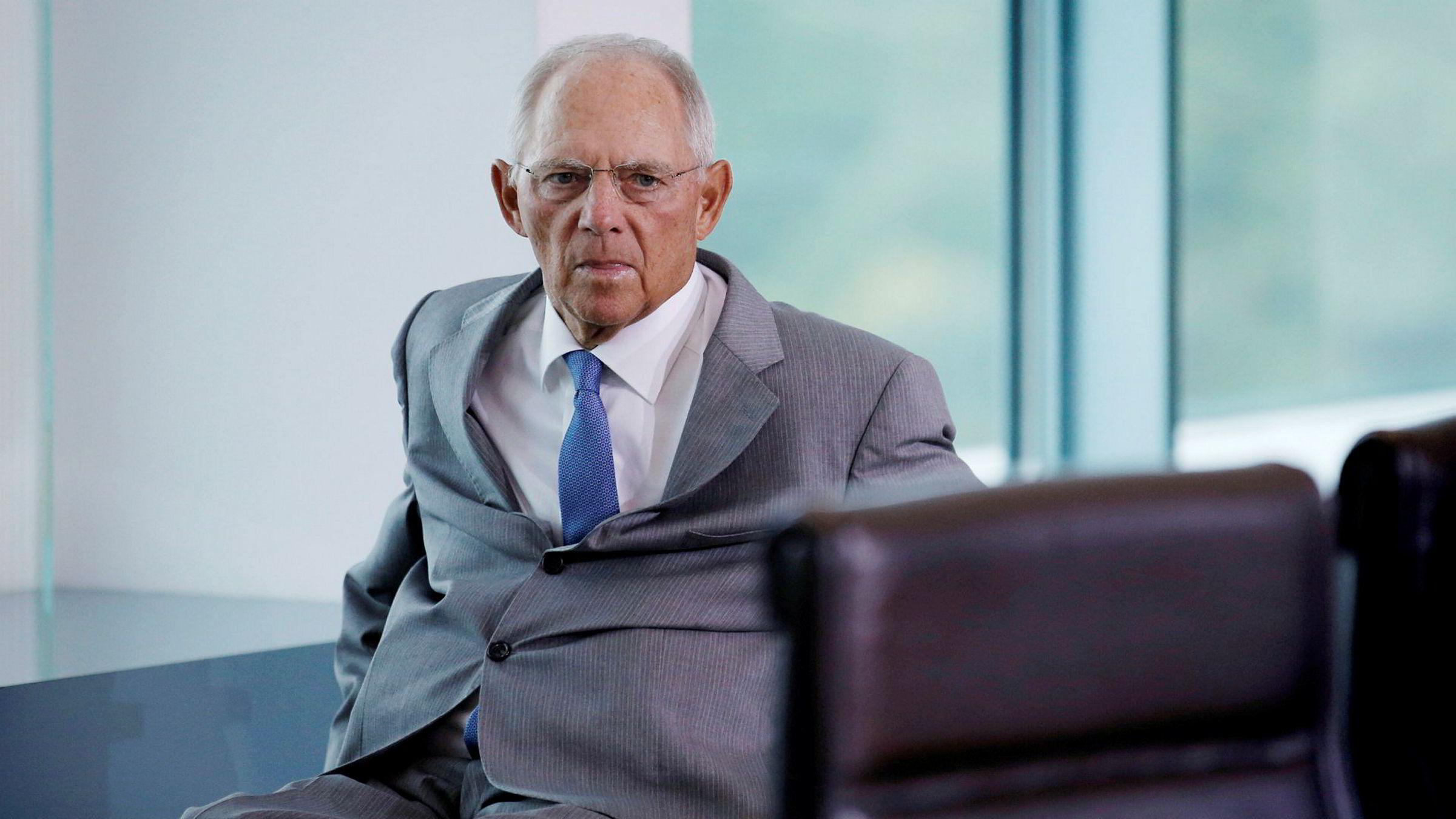 Wolfgang Schäuble (75) har vært tysk finansminister siden 2009. Nå avgår tysk politikks superveteran. I stedet skal han se til att «Ordnung muss sein» som president i den tyske Forbundsdagen.