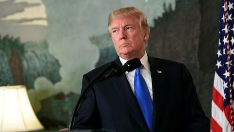 USAs president Donald Trump kom med en avklaring rundt Iran-avtalen fredag kveld.
