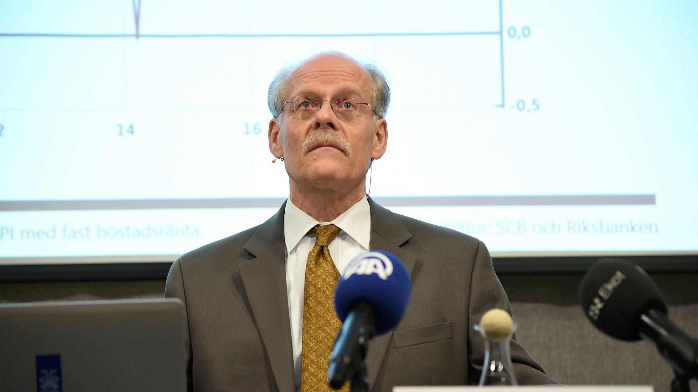 Sveriges sentralbanksjef Stefan Ingves legger onsdag frem årets siste rentebeslutning fra Riksbanken.