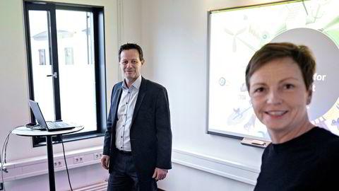 Konsernsjef Runar Hollevik og finansdirektør Mette Lier legger frem resultatene til Norgesgruppen.