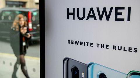 USA presser på for at britene skal svarteliste Huawei.
