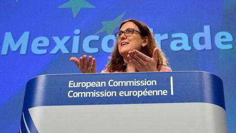 EUs handelssjef Cecilia Malmström åpnet for en avgrenset spesialavtale med USA for å slippe unna den nye importtollen på stål og aluminium.
