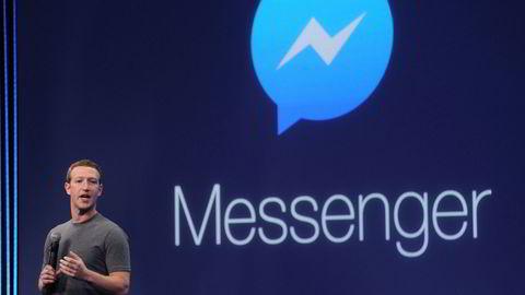 Facebook-sjef Mark Zuckerberg presenterer en ny versjon av Messenger. Plattformen brukes nå til å spre et virus som skal utvinne kryptovalutaen Monero.
