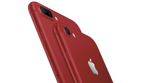Apple lanserer en egen rød utgave av Iphone hvor deler av inntektene går til Aids-forskning.
